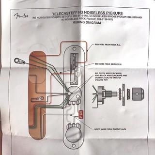 Fender Telecaster N3 Noiseless Pickups wiring diagram   FlickrFlickr