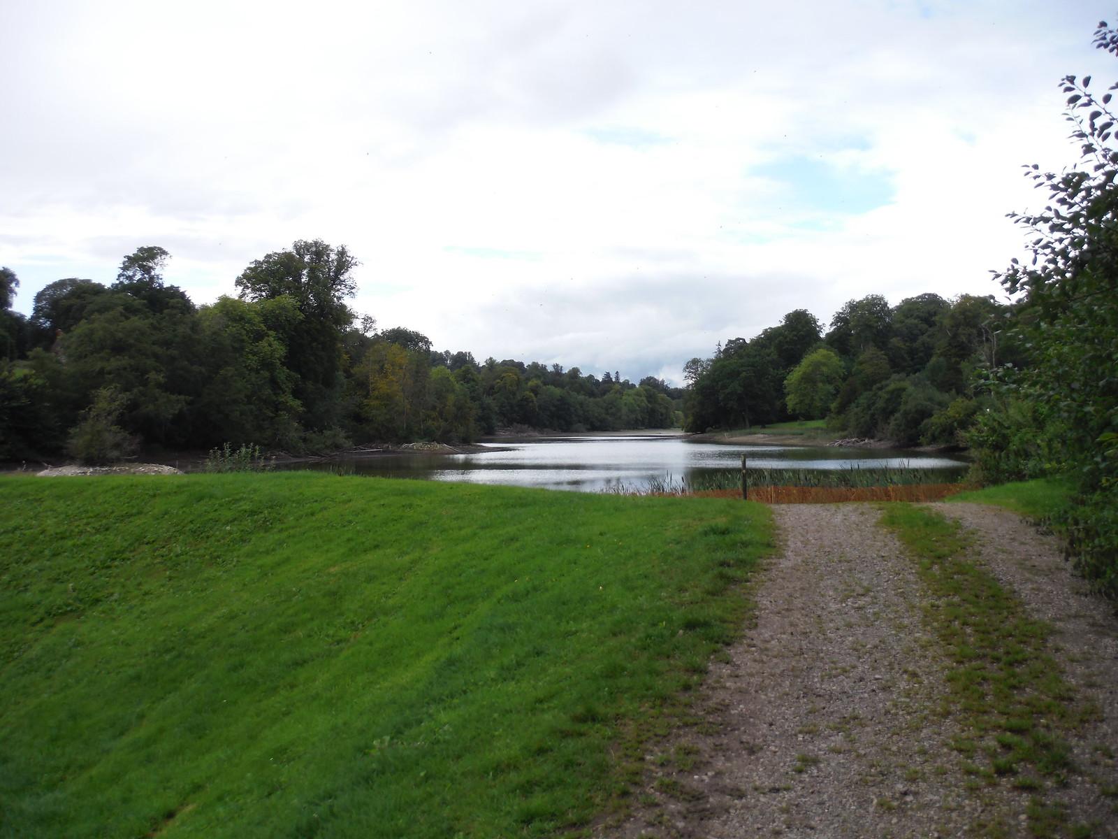 Fonthill Lake from the lakehead dam SWC Walk 248 Tisbury Circular via Hindon