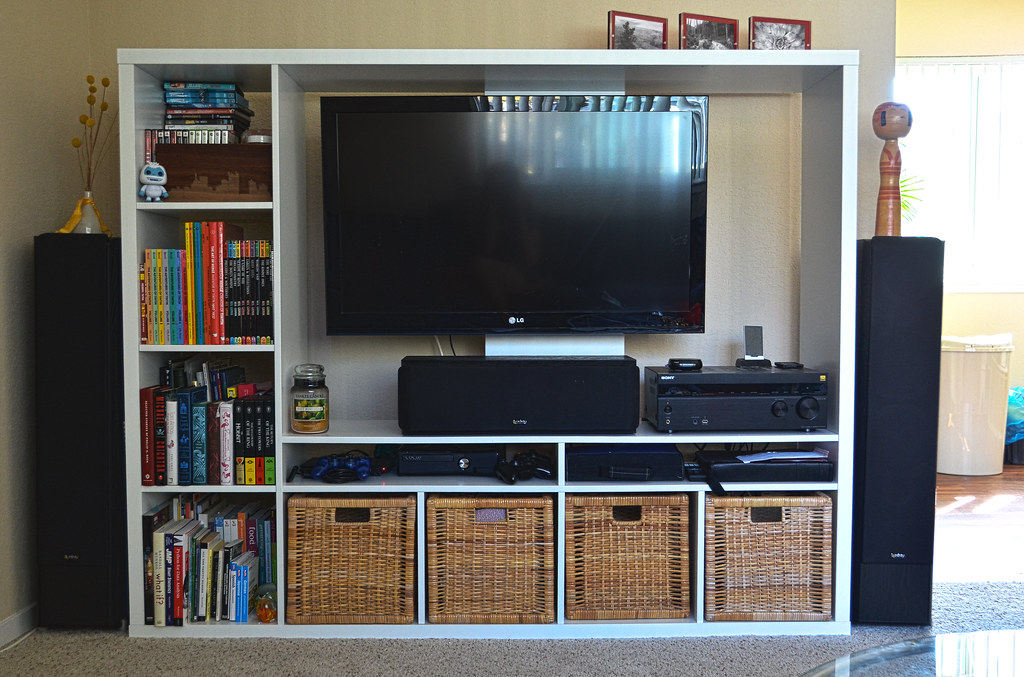 Ikea Lappland Reinforced TV Mount | We loosely followed the