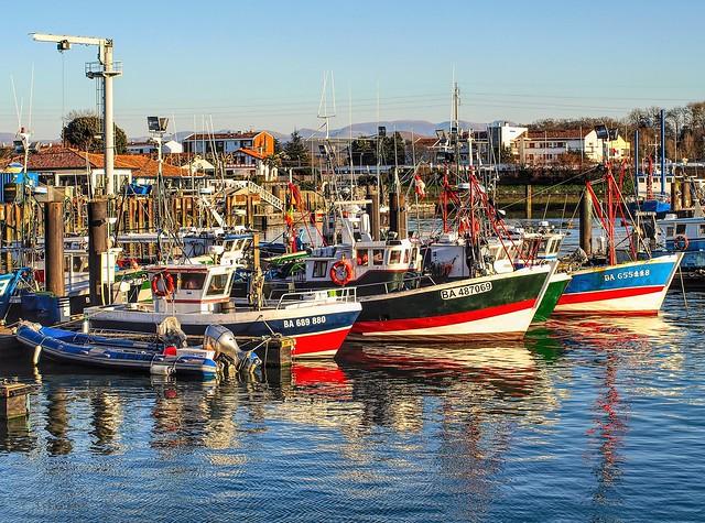 St-Jean-de-Luz. Le port.