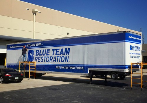 Semi 18 wheeler truck trailer wrap graphics in Orlando