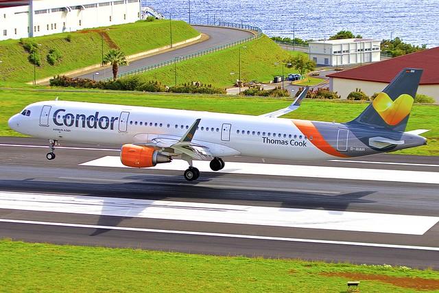 FNC/LPMA: Condor ThomasCook Airbus A321-xxx D-AIAH