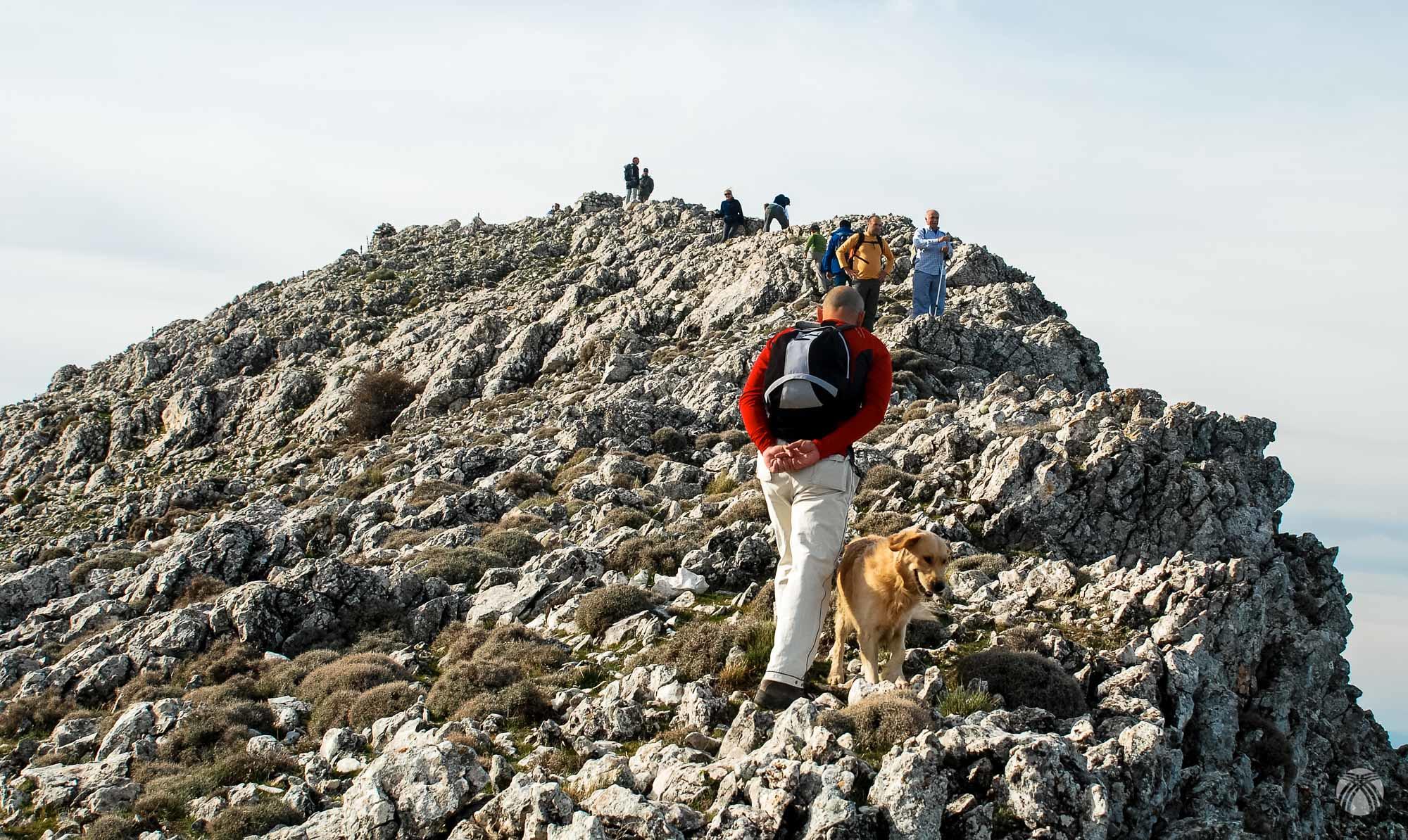 Llegando al Cerro Villalta o Aguilón del Loco