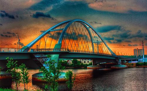 bridge sunset sky sun water minnesota architecture outdoor minneapolis mississippiriver lowry minneapolisminnesota lowrybridge