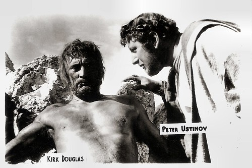 Kirk Douglas and Peter Ustinov in Spartacus (1960)