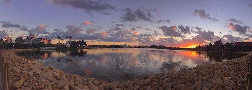 chadsparkesphotography centralflorida clouds sky sunlight sunrise scenic sevenseaslagoon disney disneyworld disneyspolynesianvillageresort disneyspolynesianresort disneysgrandfloridianresort disneysgrandfloridianresortspa silhouettes water waltdisneyworld wdw lake reflections rocks panaramic panaroma panoramic pano polynesianresort palmtrees iphonecamera iphonese appleiphonese