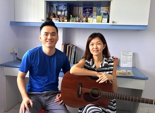 Adult guitar lessons Singapore Tze Hoon