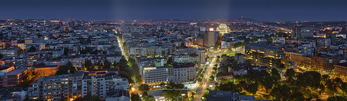 belgrade beograd serbia srbija balkan balkans horizontal bluehour sunset skyline cityscape town roads street citylights urban urbanism