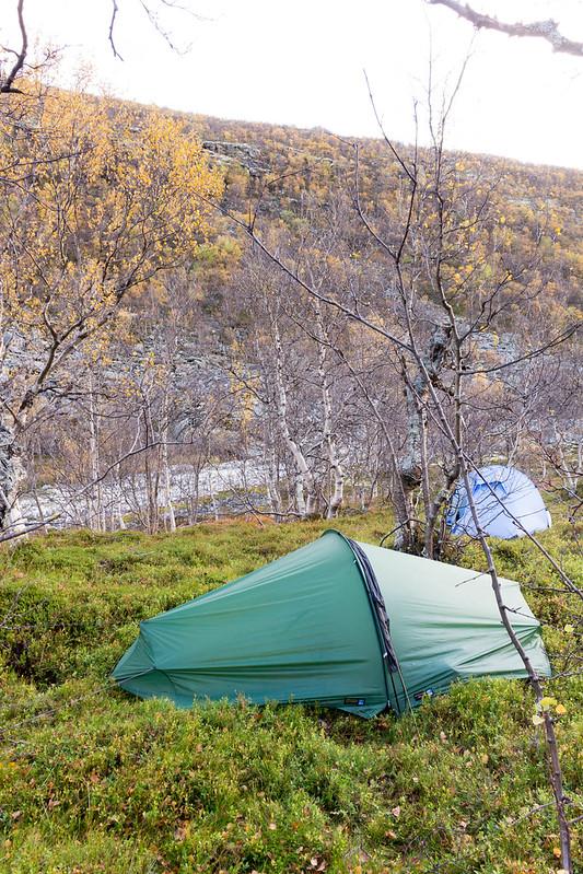 Lejr ved Langglupbekken