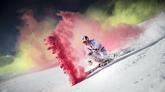 Marcel Hirscher performs during the project 'Marcel Hirscher Colours' at Reiteralm near Schladming, Austria on March 24th, 2015  // Philip Platzer/Red Bull Content Pool // P-20150402-00160 // Usage for editorial use only // Please go to www.redbullcontentpool.com for further information. //