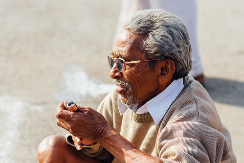 Man Smoking Marijuana, Ramkund Nashik India | by AdamCohn