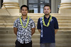 Student veteran scholarship recipients from UH Kapiolani Community College's nursing program