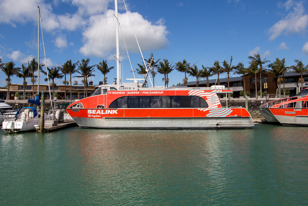 Sealink ferry Clipper 5 at Pine Harbour Marina   Dillon