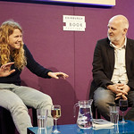 Kate Tempest with Don Paterson | Kate Tempest discusses her work with her poetry editor, and accomplished poet in his own right, Don Paterson © Helen Jones