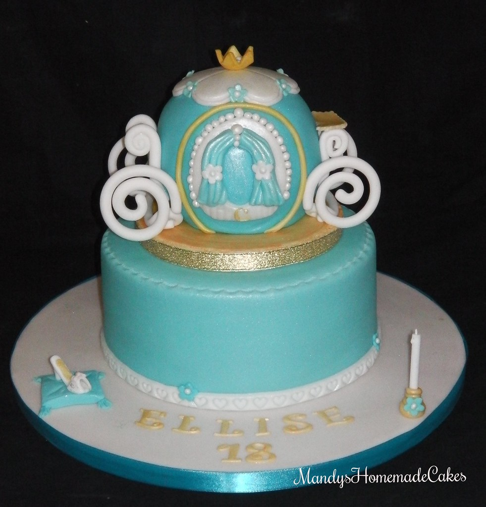 Cinderella Princess Carriage 18th Birthday Celebration Cake