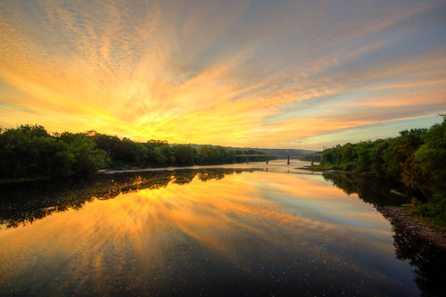 sunrise river portland pennsylvania pa penn delaware delawareriver delawarewatergap watergap