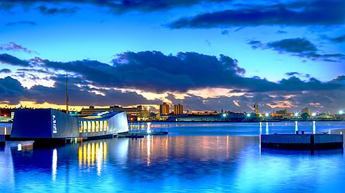 ussarizona bb39 pearlharbor ussarizonamemorial pearlharbor75 monument memorial wwii hawaii wargrave shipwreck longexposure nikond810 polarizingfilter shoreline coast harbor dawn sunrise usnavy usn
