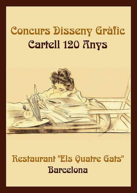 Concurs Cartell 120 Anys 4 Gats Barcelona