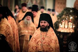 Великая вечерня в Иверском монастыре 437