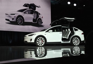 My Tesla Motors Model X VIN0002 as launched by Elon Musk | by jurvetson