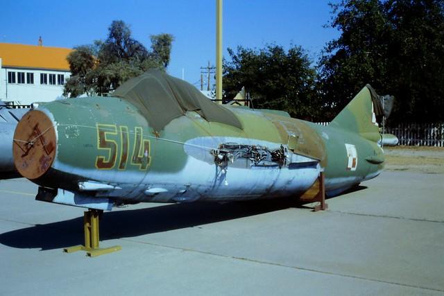 LIM-6R/MiG-17F 514 c/n 1J0514 ex Polish-AF (PWL). Stored/ Dismantled, Coolidge airfield, Arizona, 24-10-1995.