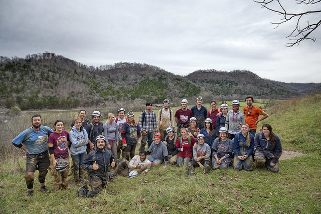 Texas A&M's Biospeleology Class Fall 2015, Indian Grave Point, Dekalb County, Tennessee