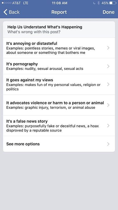 Facebook added the option to report fake news  Use it  | Flickr