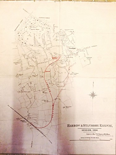 Harrow and Stanmore Railway Prospectus plan and map of 1886 | by ian.dinmore