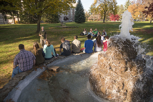 Class Outdoors by Fountain 11/18/16 | by NazarethCollege