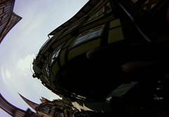 distorted fisheye shot in Hann. Münden, June 2015