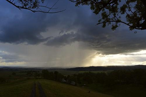 sunset sky weather landscape australia nsw showers australianlandscape cloudscape northernrivers richmondvalley
