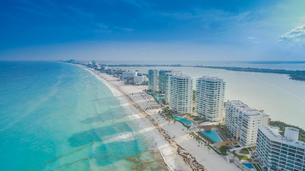 Cancun Strand Luftbild | Luftbildaufnahmen von Cancun. | Flickr