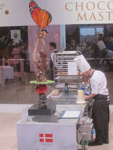 Chocolate sculptured is made by the chef - Salon du Chocolat | by sela-v
