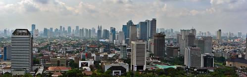 Jakarta city centre from Monas | by Ya, saya inBaliTimur