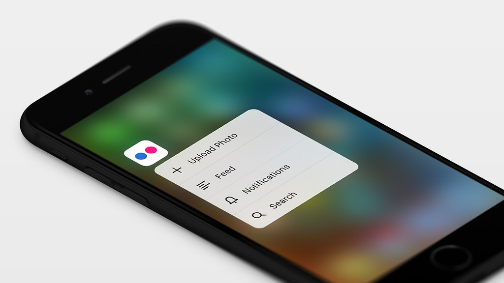 Flickr iOS 9 Quick Actions