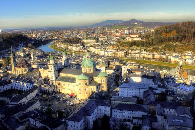 Salzburg von oben - Salzburg from above