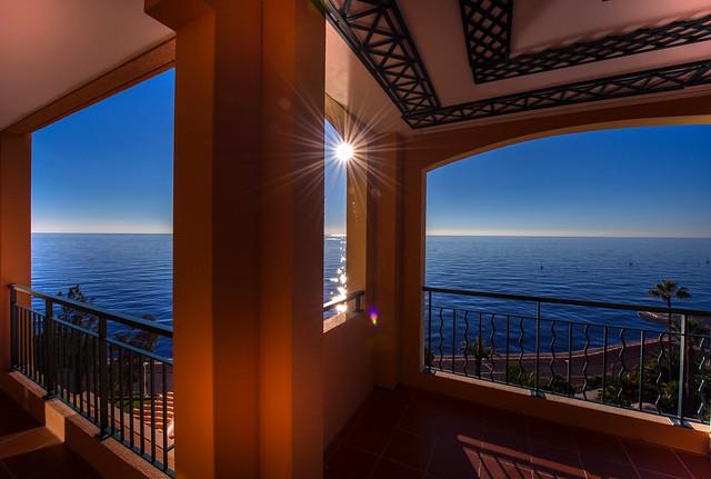 Sunny sea view from Monaco