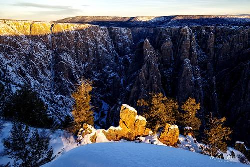 sunrise winter blackcanyon snow