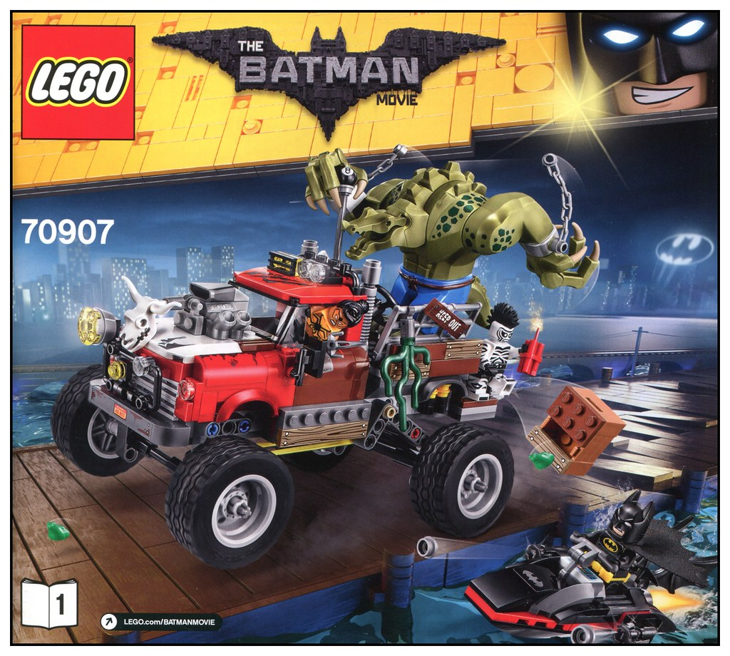 LEGO Batman Movie Killer Croc Tail-Gator 70907
