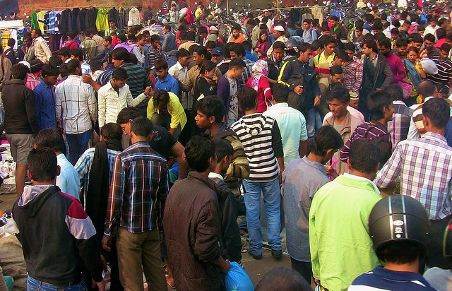 Indien , Delhi - Menschenmassen ,  13002/5789