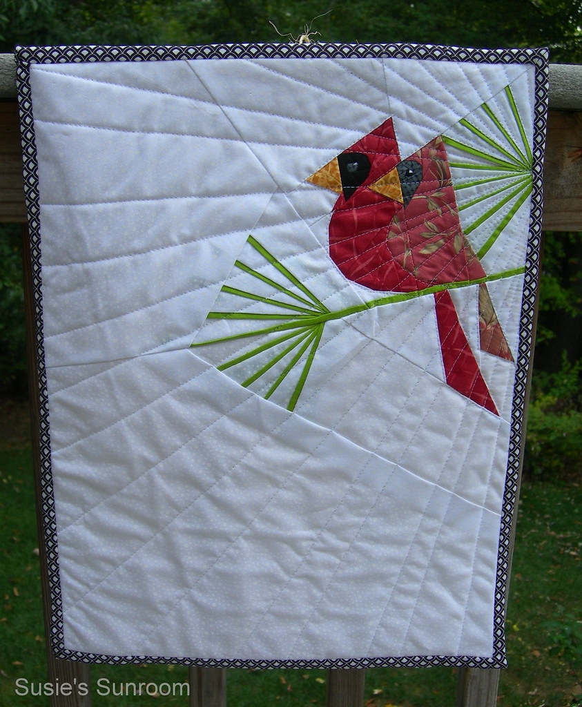 """Cardinals mini quilt design from Paper Piecing 1/4"""" dig ma ..."""