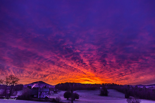 mountains clouds sunrise colorful vermont frosty