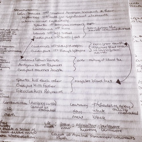 More Obsessive Note Taking #throwbacktocollege | by Cat Sidh
