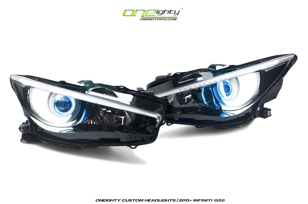 Infiniti Q50 Custom Headlights by ONEighty | For info and pr… | Flickr