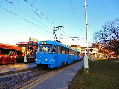 ZET 417 on route 6 at Črnomerec, Zagreb - 29th December 2016 | by Alex-397
