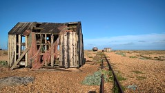 Abandoned fishing huts at Dungerness