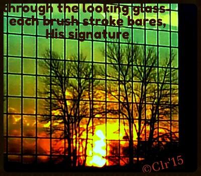 mirored sunset
