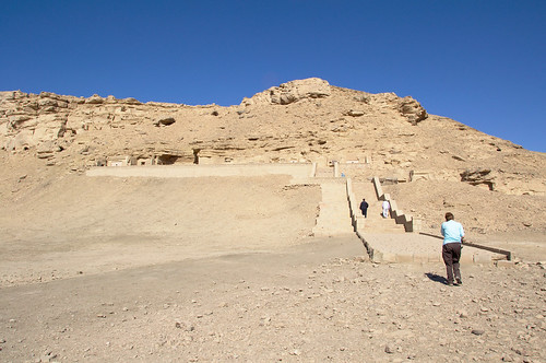 Stairs up to 18th Dynasty Tombs at el Kab