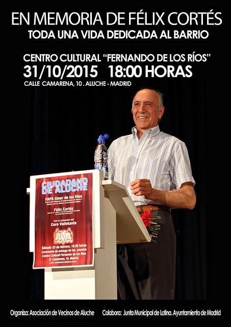 Homenaje a Félix Cortés 31/10/2015