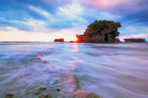 tanah lot bali denpasar indonesia outdoors sky wave beach sunset sunrise star